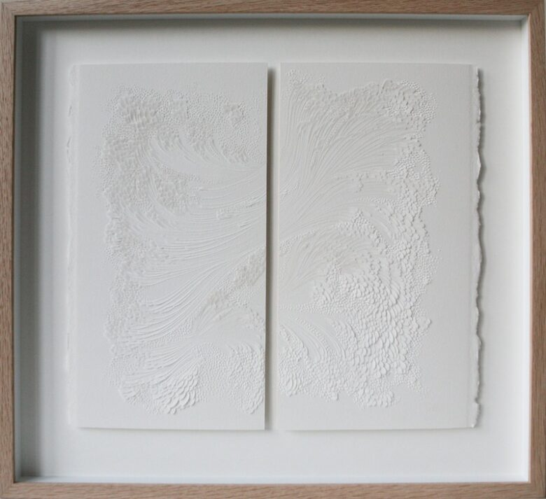 Untitled<br> Bas-relief on paper, 33 x 29,7 cm<br> Private collection