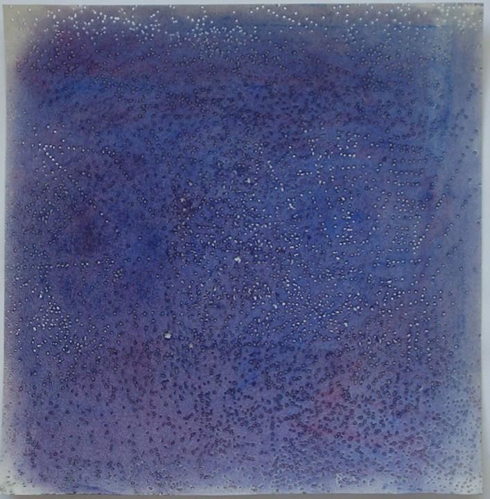 Dans la couleur I, 2013<br> Pastel, hole on paper, 30 x 28 cm