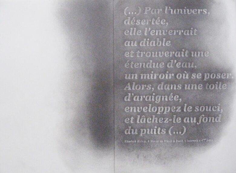 Par l'univers désérté, 2015<br> Crayon on paper, 42 x 58 cm