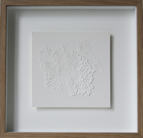 Bas-relief on paper, 25 x 25 cm<br>Private collection